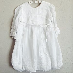 Vintage lace cotton baby christening gown💗